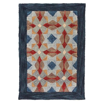 Cheryton Hand Tufted Wool Blue Area Rug Rug Size: 6 x 9