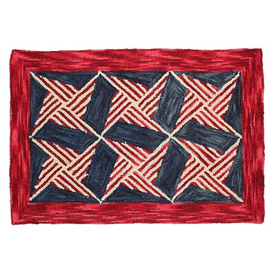 Chesa Hand Tufted Wool Red Area Rug Rug Size: 4 x 6