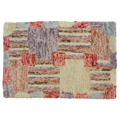 Sarepta Hand Tufted Wool Yellow/Red Area Rug Rug Size: 4 x 6