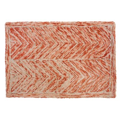 Sharadan Hand Tufted Wool Red Area Rug Rug Size: 4 x 6