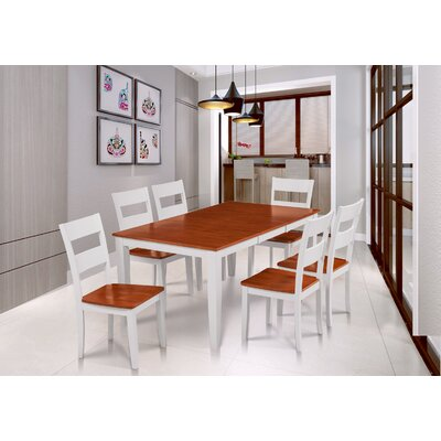 Hassett 7 Piece Dining Set Table Base Color: White