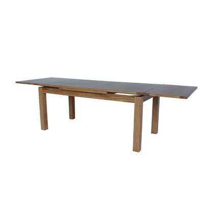 Myricks Rectangle Extendable Dining Table Color: Light Dark Oak, Size: 30.7