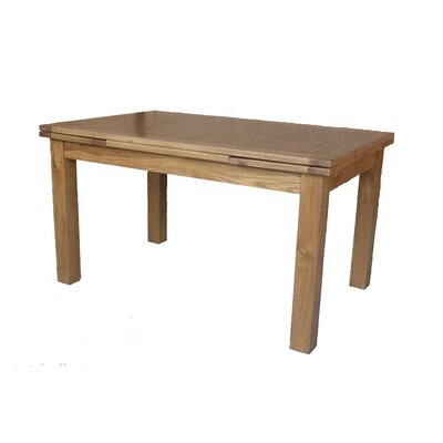Myricks Rectangle Extendable Dining Table Color: Natural Oak, Size: 30.7 H x 35.4 W x 55 L
