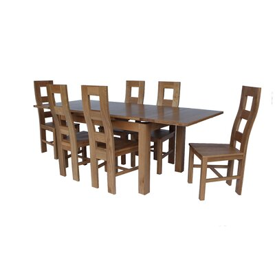Pecoraro 7 Piece Extendable Dining Set Color: Light Dark Oak