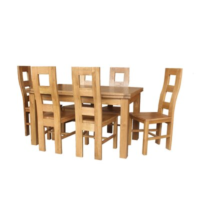 Pecoraro 7 Piece Extendable Dining Set Color: Natural Oak