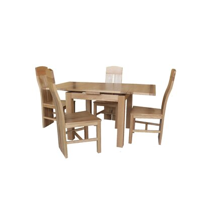 Pecor 5 Piece Extendable Dining Set Color: Light Dark Oak