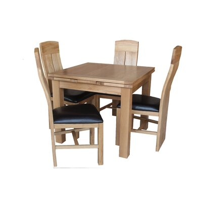 Pecor 5 Piece Dining Set Color: Light Dark Oak