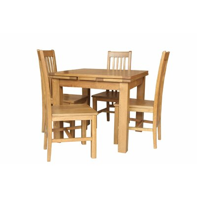 Pecora 5 Piece Extendable Dining Set Color: Natural Oak