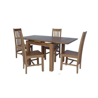 Pecora 5 Piece Extendable Dining Set Color: Light Dark Oak