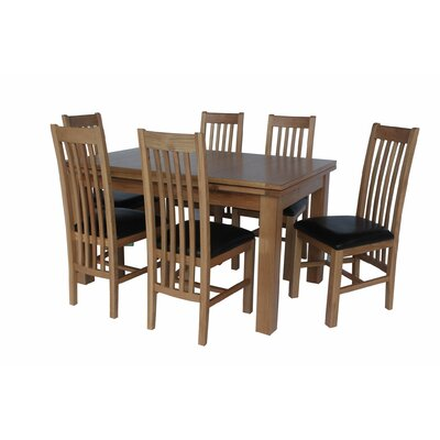 Pecora 7 Piece Extendable Dining Set Color: Light Dark Oak