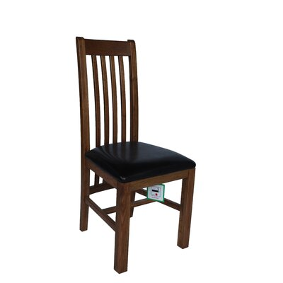 Covarrubias Upholstered Dining Chair Frame Color: Golden Oak