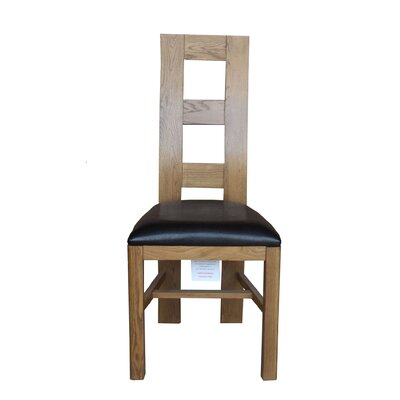 Carbajal Upholstered Dining Chair Frame Color: Light Dark Oak