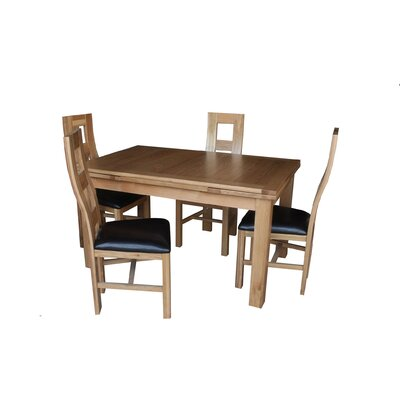Pecoraro 5 Piece Extendable Dining Set Color: Light Dark Oak