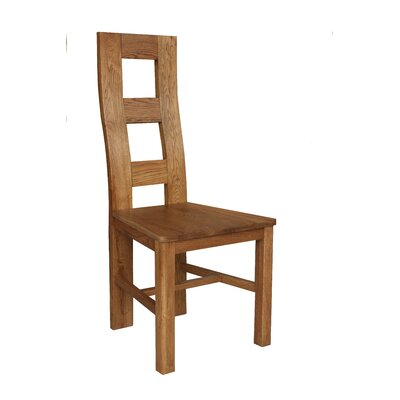 Carbajal Solid Wood Dining Chair Color: Golden Oak