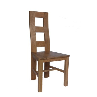 Carbajal Solid Wood Dining Chair Color: Natural Oak