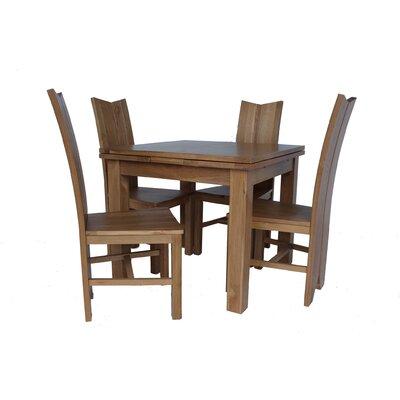Chilewich 5 Piece Dining Set Color: Light Dark Oak