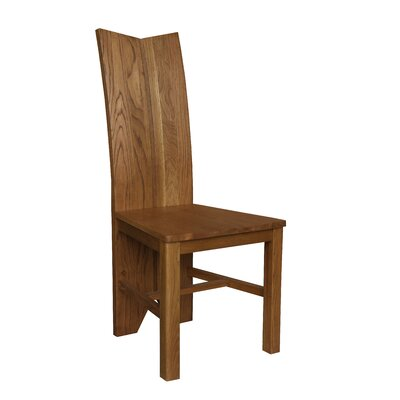 Alicia Solid Wood Dining Chair Color: Golden Oak