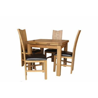 Baxley 5 Piece Extendable Dining Set Color: Natural Oak