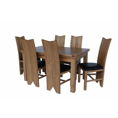 Chilewich 7 Piece Dining Set Color: Light Dark Oak