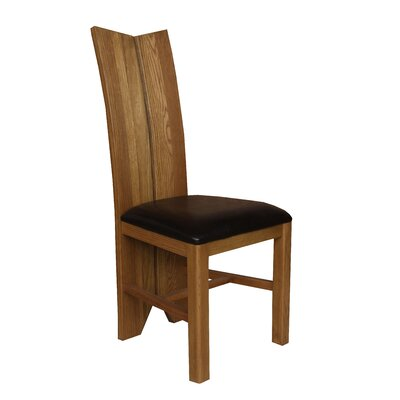 Alicia Upholstered Dining Chair Frame Color: Golden Oak