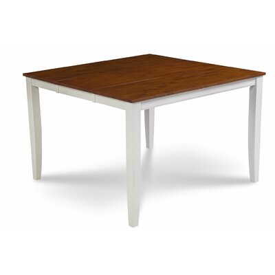 Bennet Pub Table Color: White/Cherry