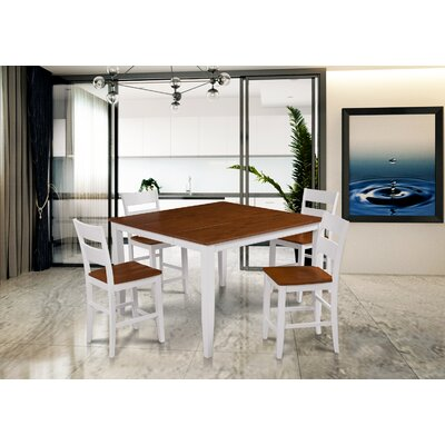 Hassen 5 Piece Counter Height Dining Set Color: White