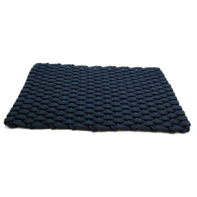 Arron Doormat Mat Size: 18 x 210, Color: Navy
