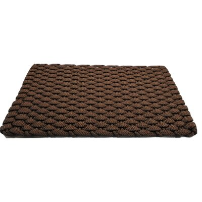 Arron Doormat Mat Size: 18 x 26, Color: Brown