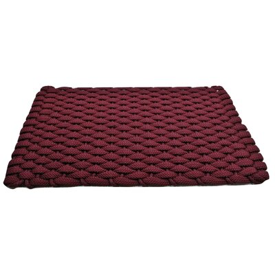 Arron Doormat Mat Size: 18 x 210, Color: Wine