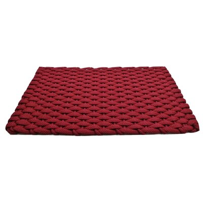 Arron Doormat Mat Size: 18 x 26, Color: Red Rose