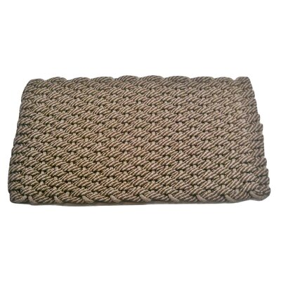 Joshawn Doormat Mat Size: 18 x 26, Color: Brown/Tan