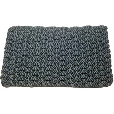 Joshawn Doormat Mat Size: 18 x 26, Color: Navy/Gray