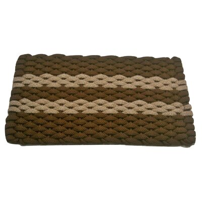 Deija Doormat Mat Size: 18 x 32, Color: Brown