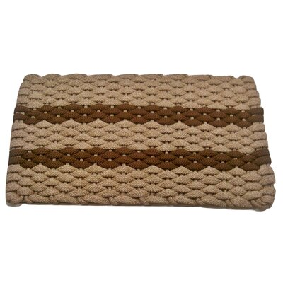 Deija Doormat Mat Size: 18 x 26, Color: Tan