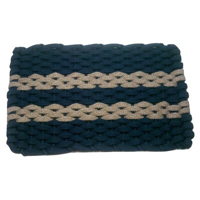 Deija Doormat Mat Size: 18 x 26, Color: Navy/Tan