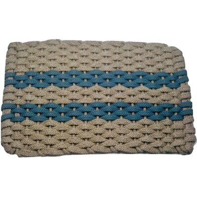 Deija Doormat Mat Size: 18 x 32, Color: Tan/Light Blue