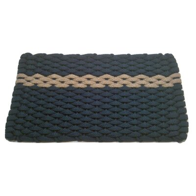 Catalin Doormat Mat Size: 18 x 32, Color: Navy/Tan