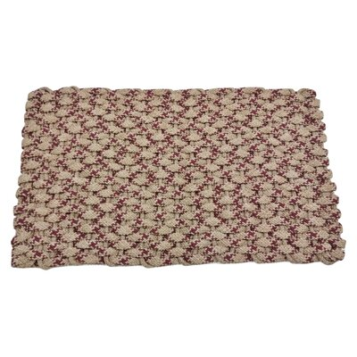 JoLinda Doormat Mat Size: 18 x 32, Color: Tan/Wine