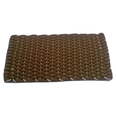 Dreanda Doormat Mat Size: 18 x 32, Color: Brown