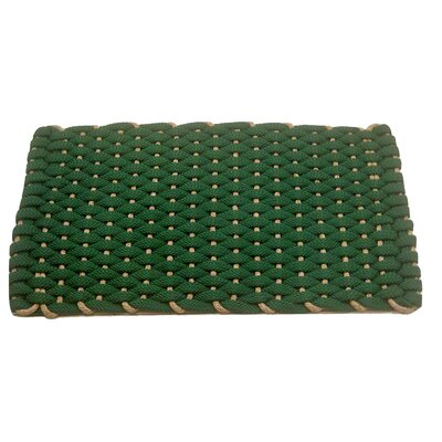 Dreanda Doormat Mat Size: 18 x 26, Color: Green