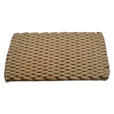 Dreanda Doormat Mat Size: 18 x 26, Color: Tan