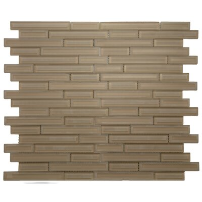 Cameo Brique Glass Mosaic Tile in Beige/Cream