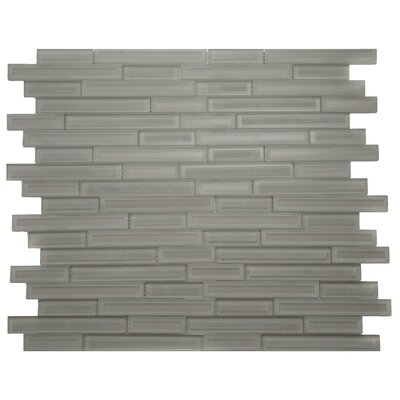 Cameo Brique Glass Mosaic Tile in Gray