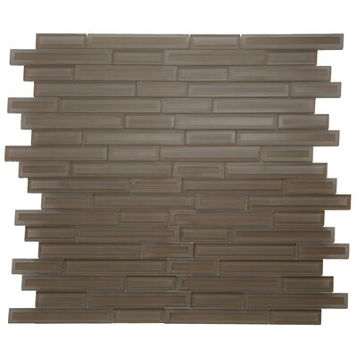 Cameo Brique Glass Mosaic Tile in Brown