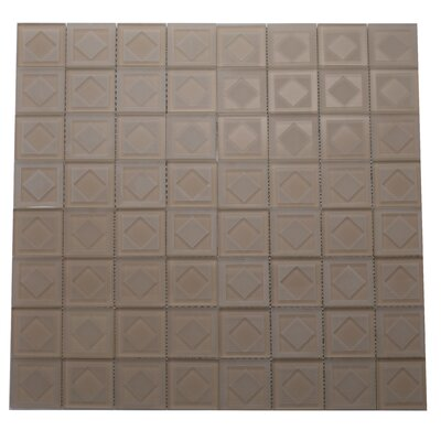 Cameo Diamant Glass Mosaic Tile in Beige/Cream