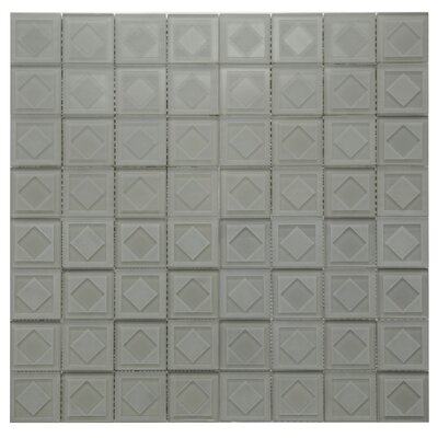 Cameo Diamant Glass Mosaic Tile in Taupe Gray