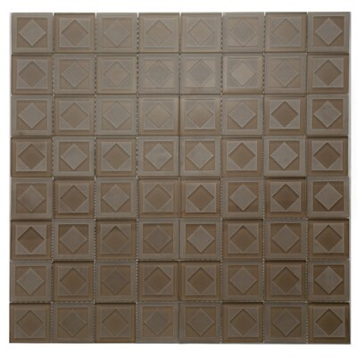 Cameo Diamant Glass Mosaic Tile in Brown