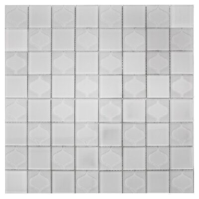 Cameo Funnel Porcelain Mosaic Tile in White/Gray