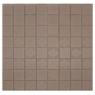 Cameo Funnel Glass Mosaic Tile in Beige/Cream
