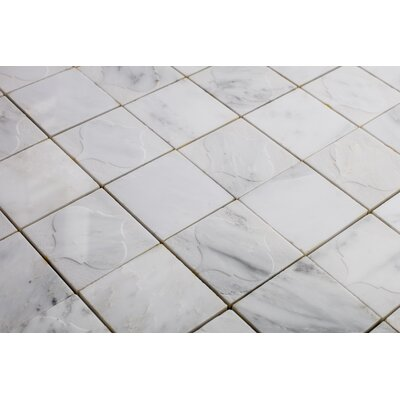 Cameo Funnel 3 x 3 Marble Mosaic Tile in Carrera